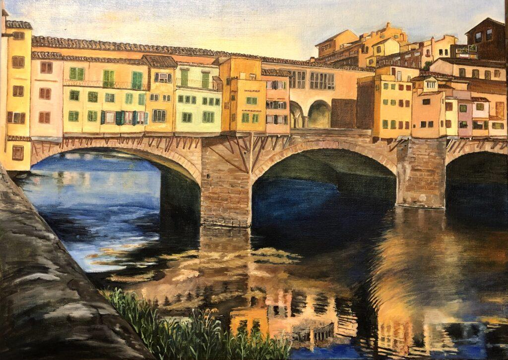 Ponte Vecchio Florence Oil Painting
